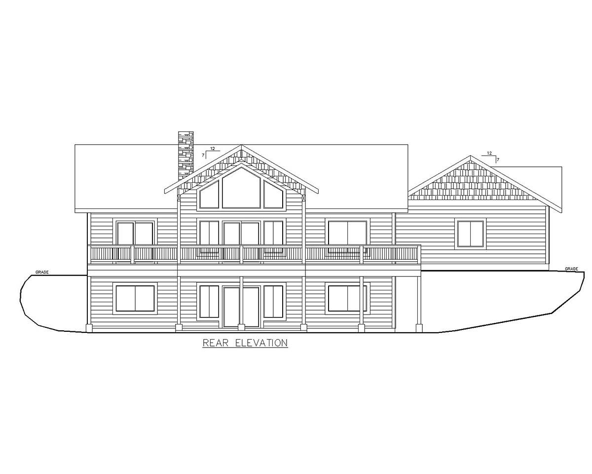 Craftsman Style House Plan 85118 with 4 Bed, 3 Bath, 2 Car Garage