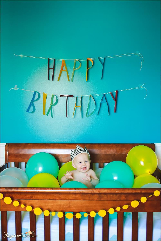 Alden's First Birthday Fun // St. Charles Child Photography #babyboy1stbirthdayparty