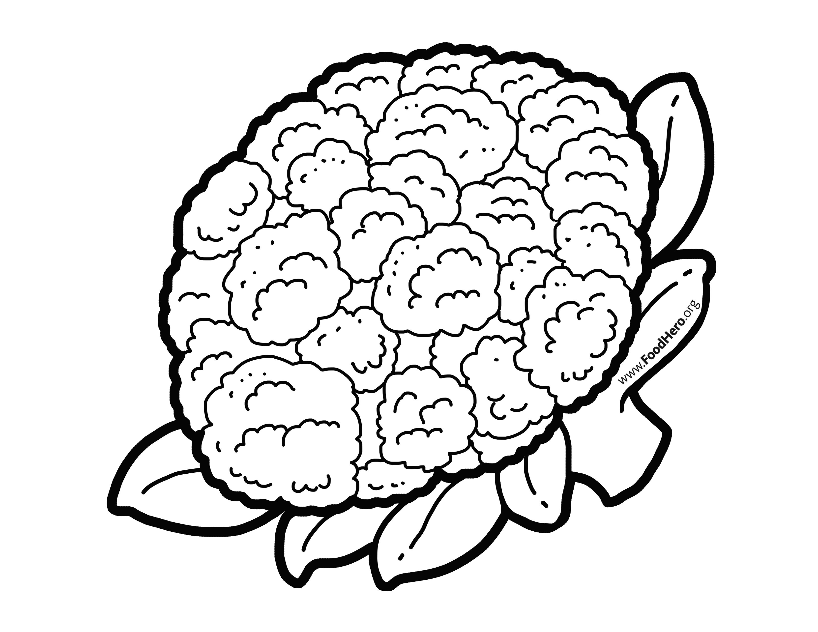 Cauliflower Illustration Found At Foodhero Org Bullentinboards