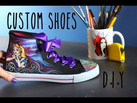 eb01155f3d8b ... shop diy converse shoes alice in wonderland disney pinterest inspired  how to paint bling customize youtube ...
