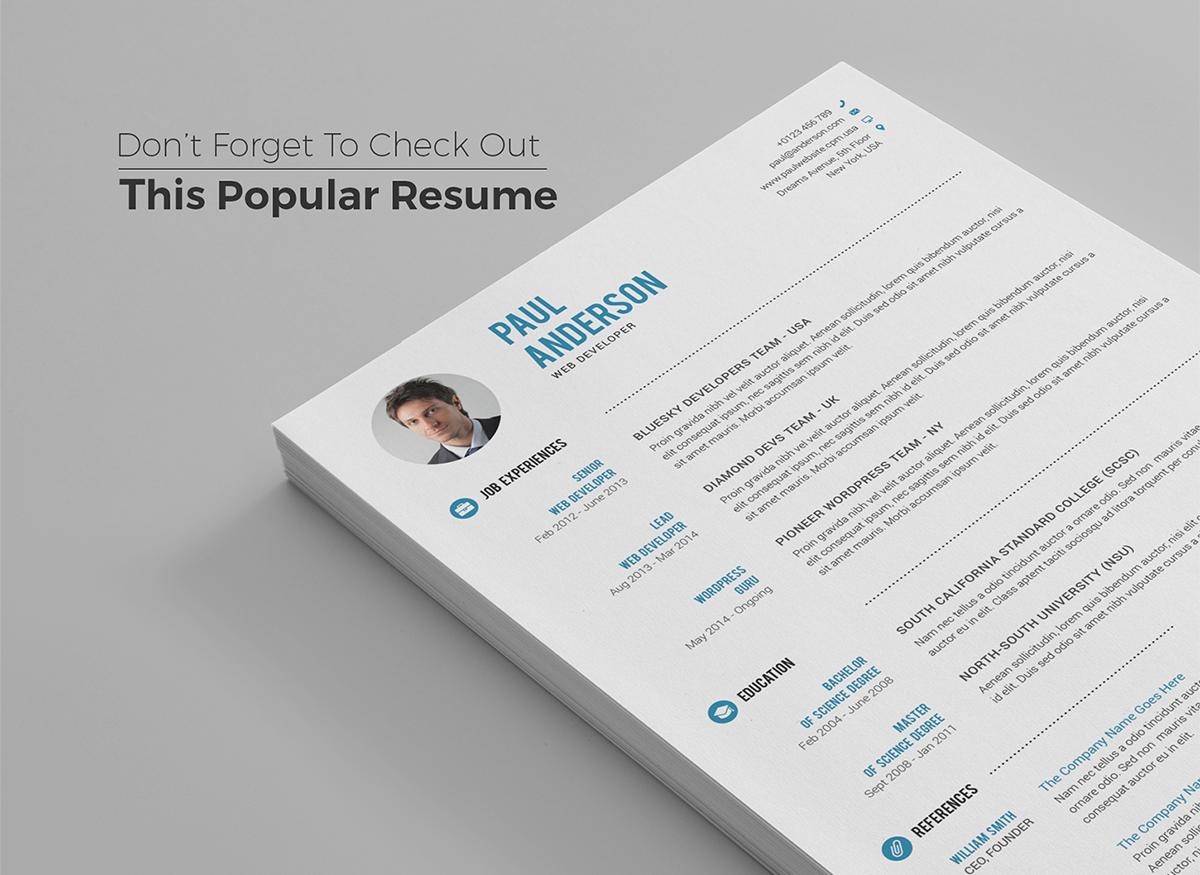 Behance Resume Templates Resume Template Free Resume Template Resume