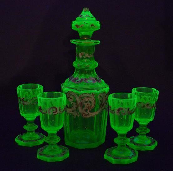 biedermeier   glass,... in 2019   Vaseline glass, Glass ...