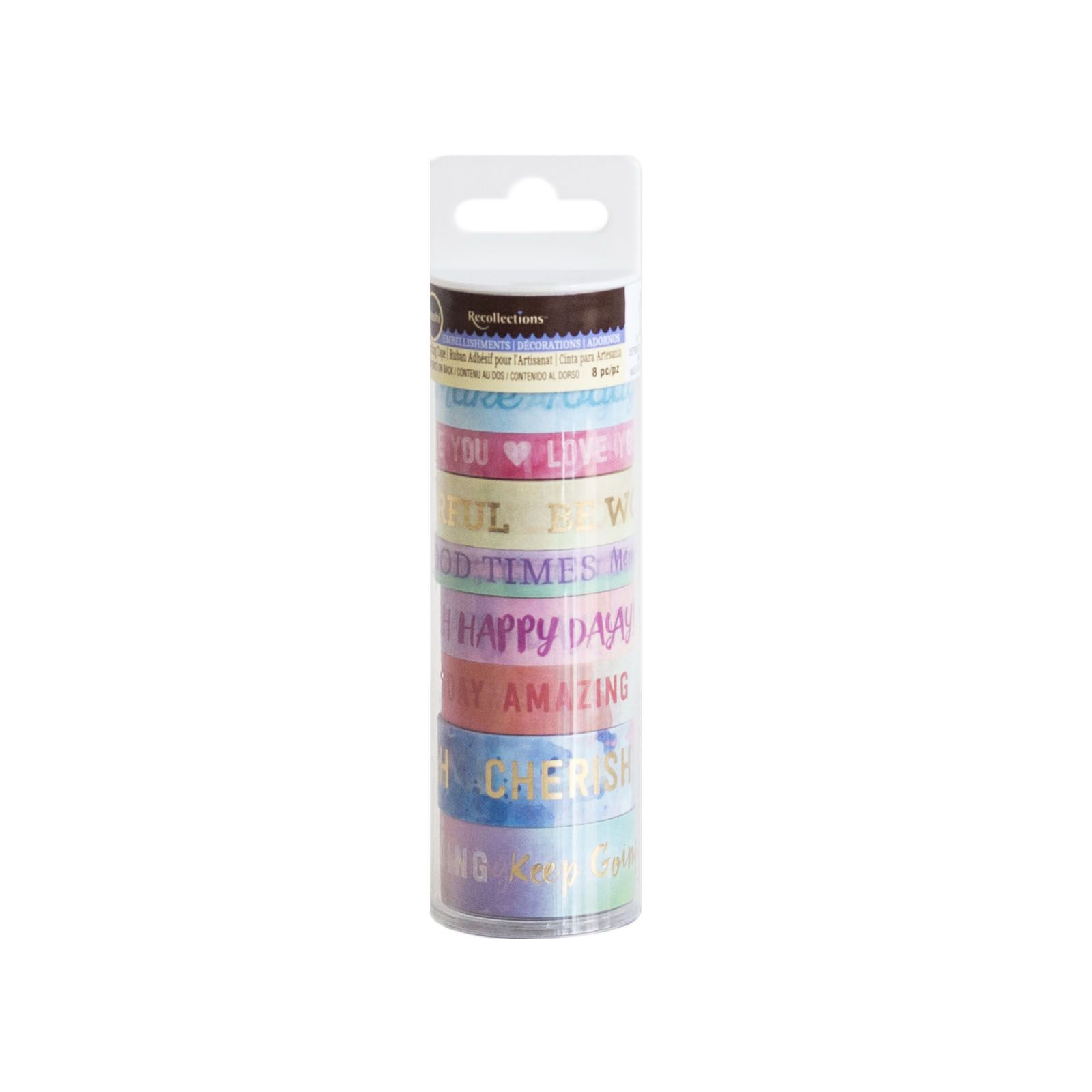 Pastel Welcome Words Washi Tape Tube By Recollections Washi Tape Washi Welcome Words