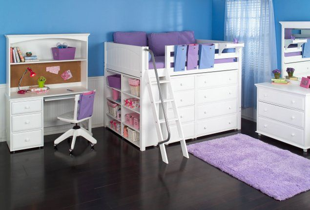 Chambre pour jeune fille chambres b b s et enfants nursery childs rooms pinterest - Lit superpose pour tout petit ...