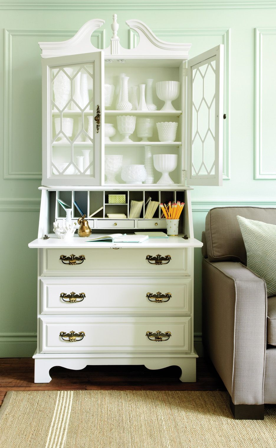 Photo By Roberto Caruso Benjamin Moore Light Pistachio Paint For Kitchen Walls Home Office Design