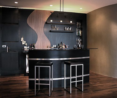 Make this bar wider and it would be sick | Dream House Bar Ideas ...