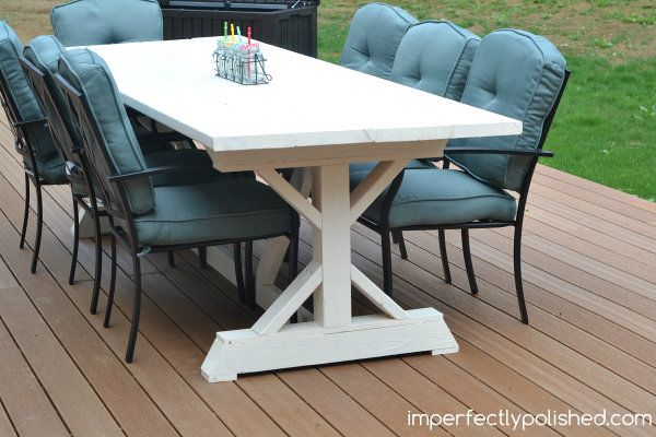 Diy Outdoor Dining Table With Images Outdoor Dining Table Diy
