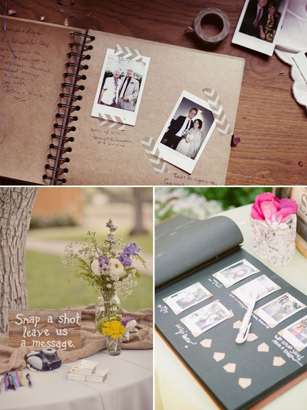 idee con le polaroid per il matrimonio guestbook pinterest g stebuch polterabend und. Black Bedroom Furniture Sets. Home Design Ideas