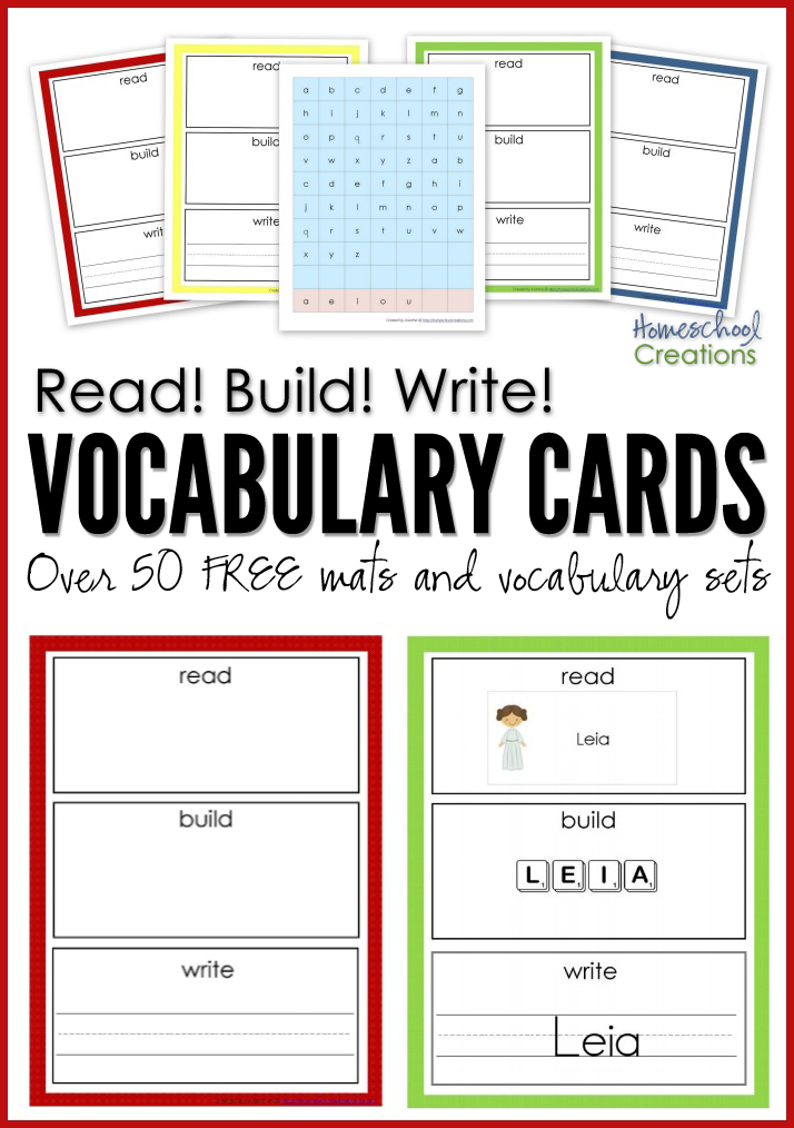 Read, Build, Write Printables | Alphabet und Kind