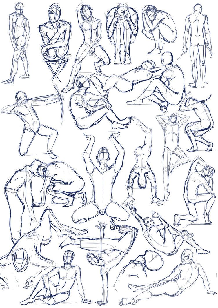 Pen January 2011 These are just some random figure study sketches of ...