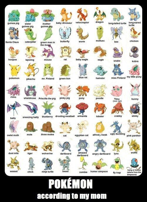 do your parents know each pokémon s name pokemon gotta catch em