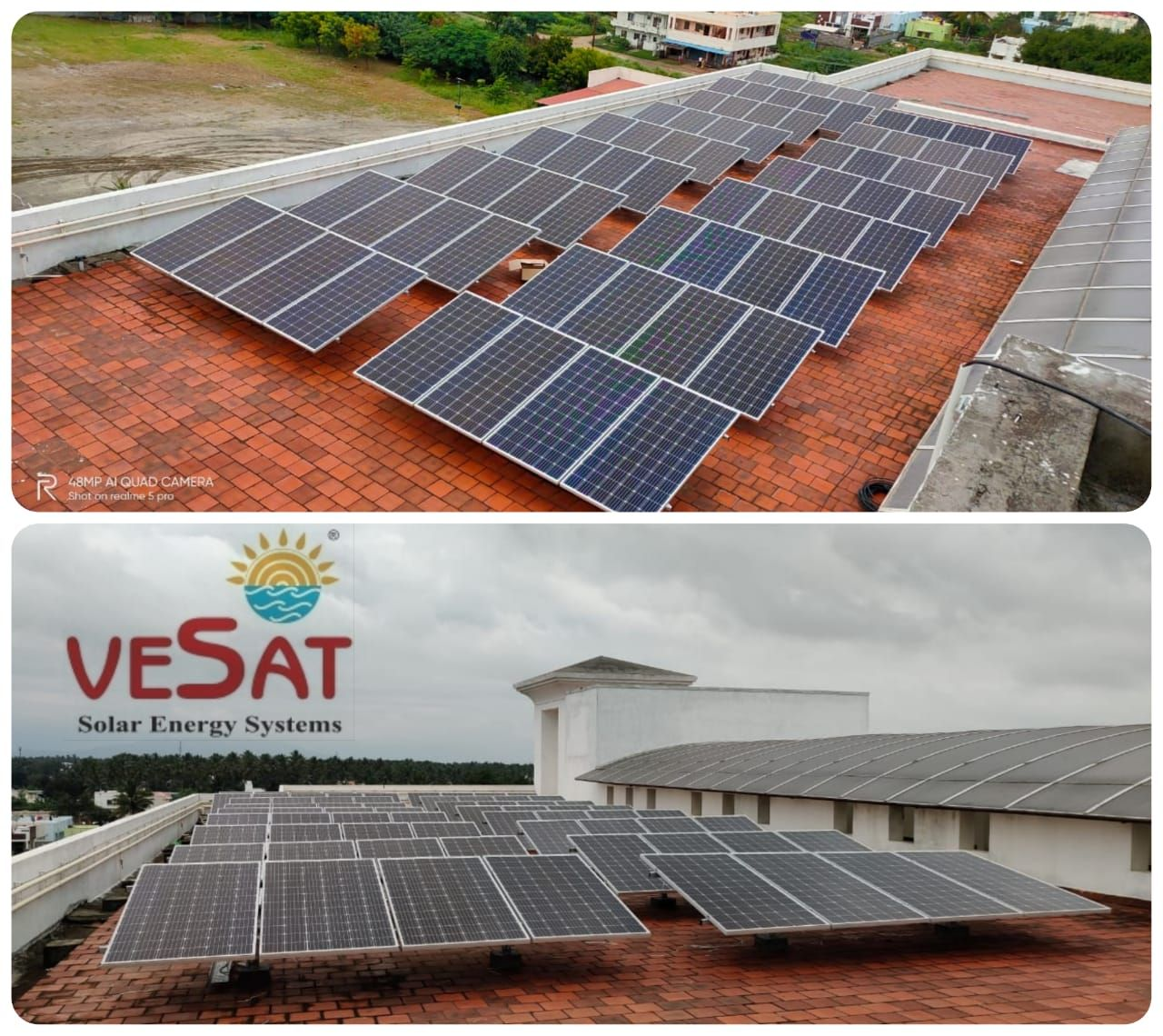 Solar Power Plant Installed At Nursing College To Reduce Their Eb Bill Vesat Renewables Private Limited Contact With Images Solar Solar Power Plant Solar Energy System