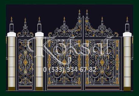 Puertas de garaje Puertas de hierro Modelos de puertas de hierro Hierro forjado ...- Puertas ...