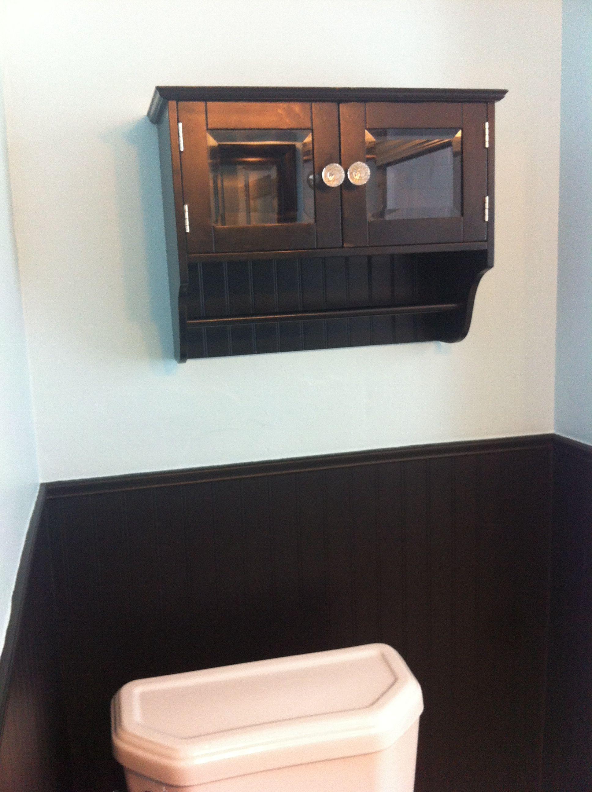 Black wainscoting in small bathroom wainscotingideasgarage