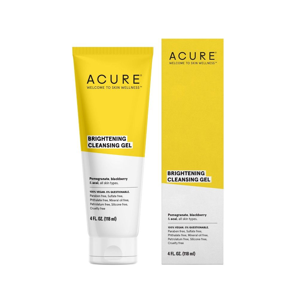 Unscented Acure Brilliantly Brightening Cleansing Gel