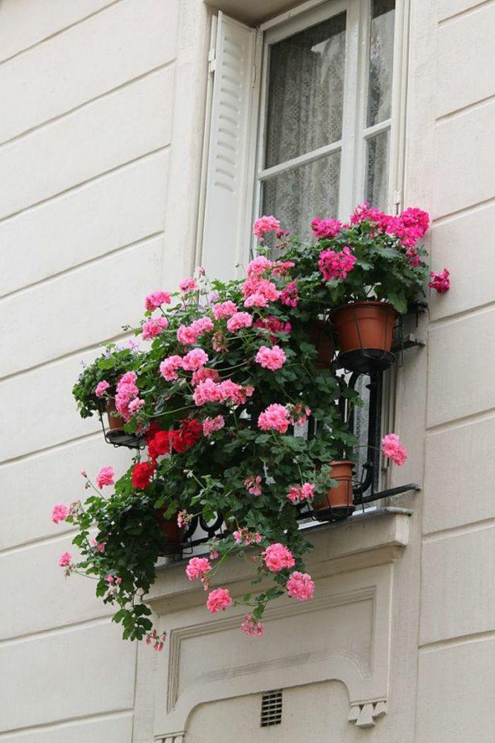 comment avoir un balcon fleuri id es en 50 photos d co petit balcon fleurs suspendues et