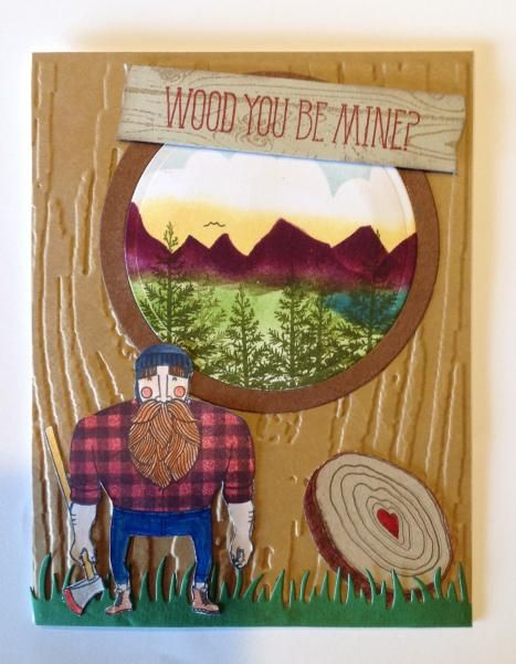 Logger scene by MEnmystamps - Cards and Paper Crafts at Splitcoaststampers