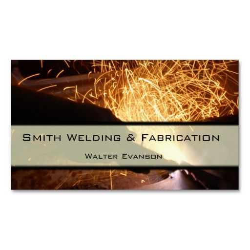 Metal Fabrication And Welding Business Card This Is A Fully