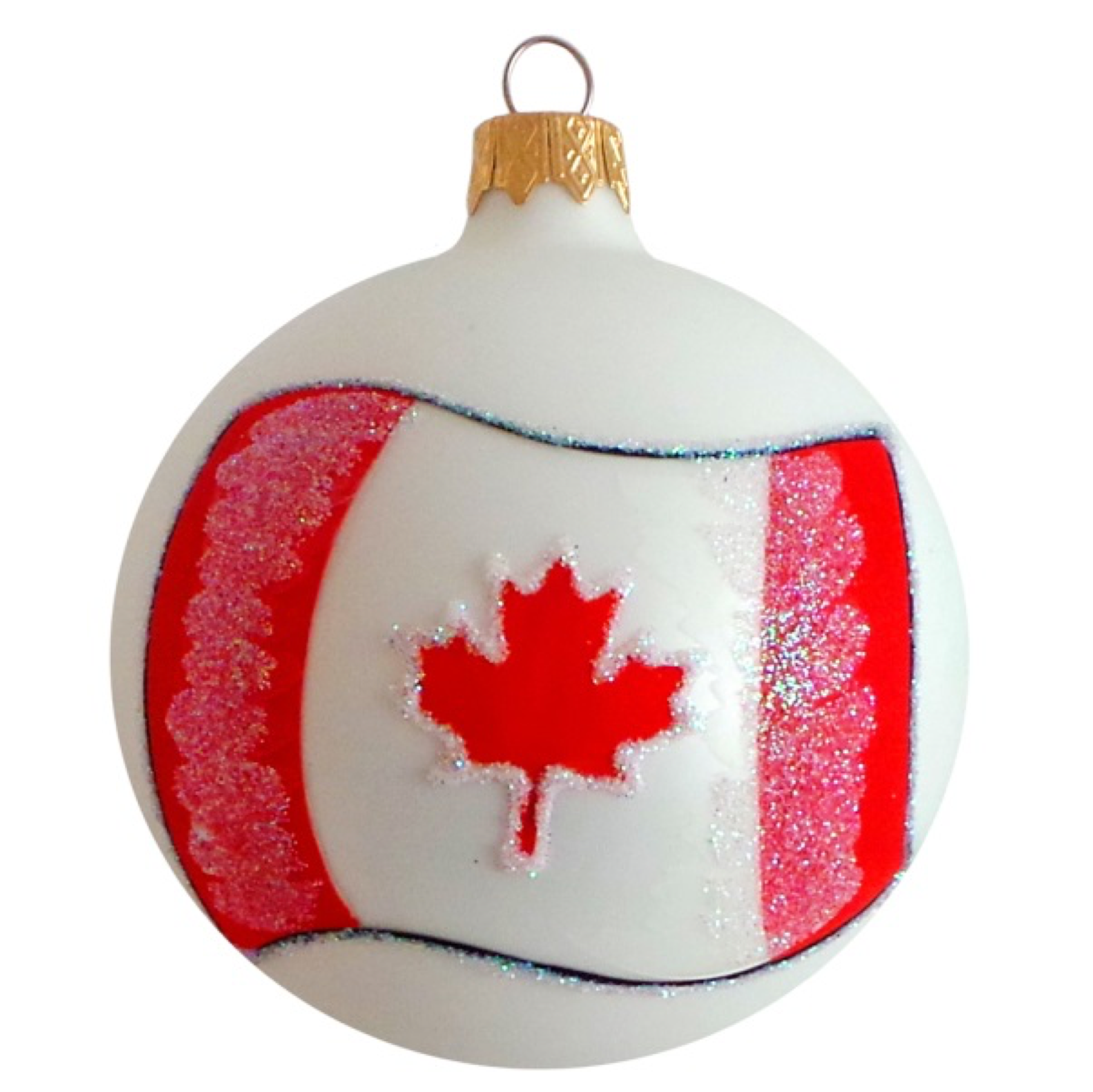 Flag Of Canada Glass Ball Christmas Ornament Glass Christmas Ornaments Christmas Ornaments Glass Ball