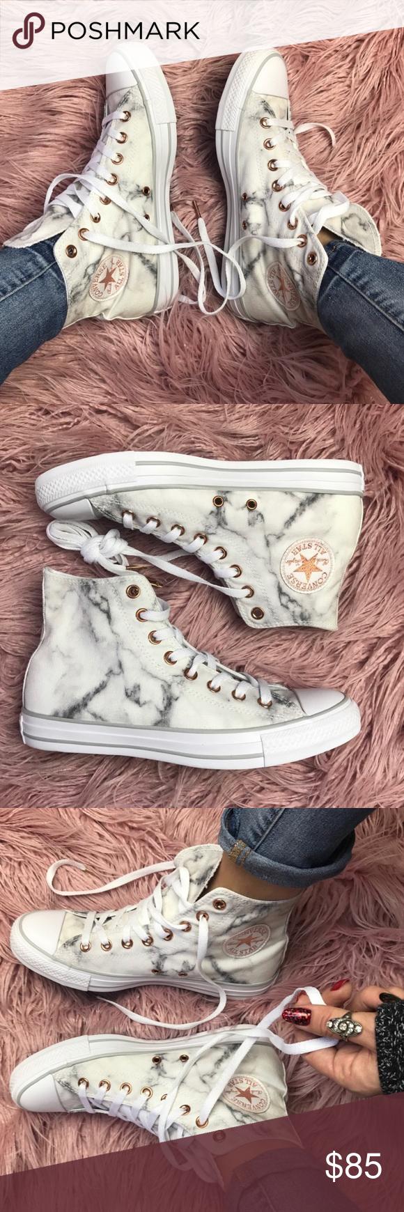 NWT marble high top converse