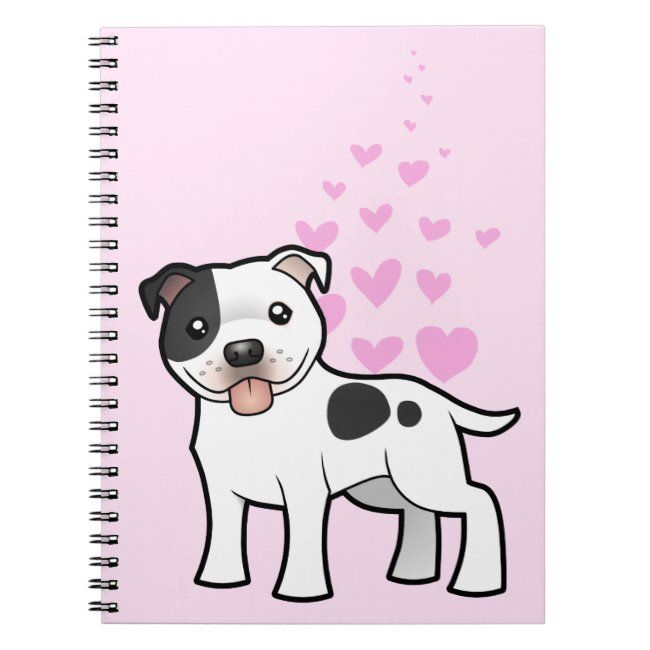 Staffordshire Bull Terrier Love Notebook #american #staffordshire #terrier #pitbull #pit #Notebook
