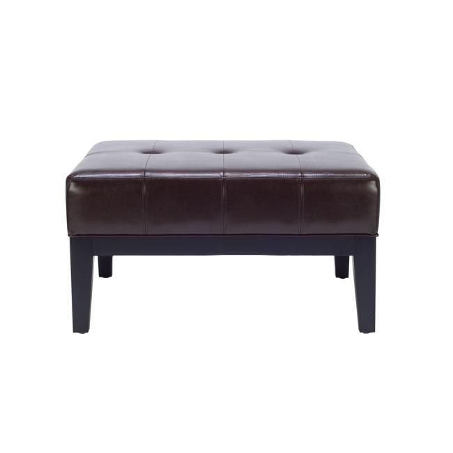 This Fulton Ottoman Features A Sy Wood Frame And Sleek