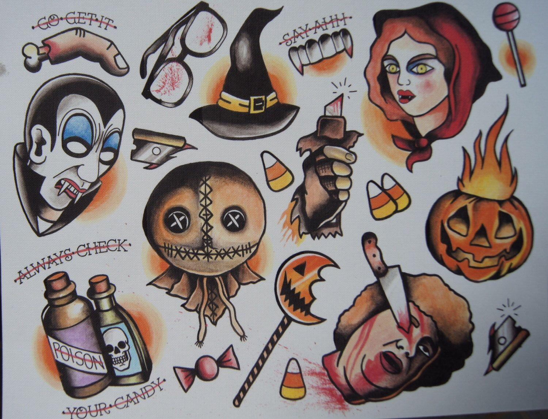 Horror Movie Tattoo Flash Horror Traditio...