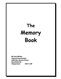 The Memory Book: great tips for Memory, requires a
