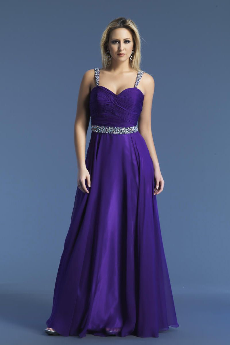 Straps Beaded Purple Long Prom Dress | Prom Dresses | Pinterest ...