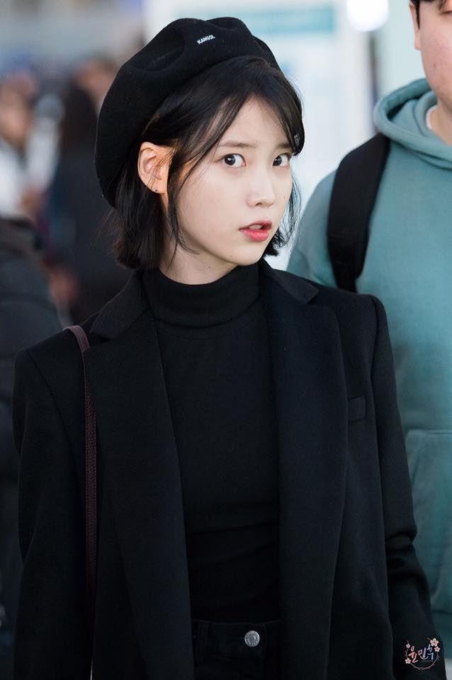 Iu Fashion Airport Style Korean Kpop Hairstyle Hair Girls Short Hairstyles Fan
