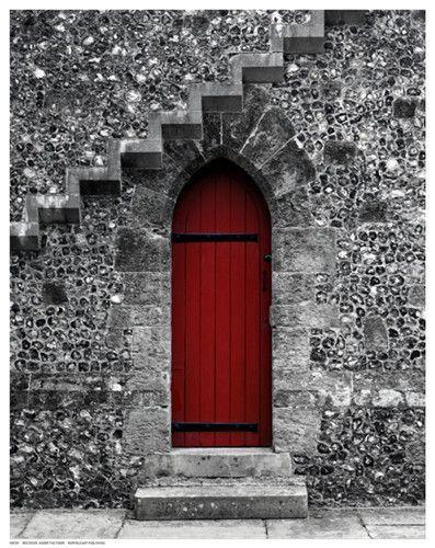 Red Doors Stone : Red door under the stairs doors doorways knobs and