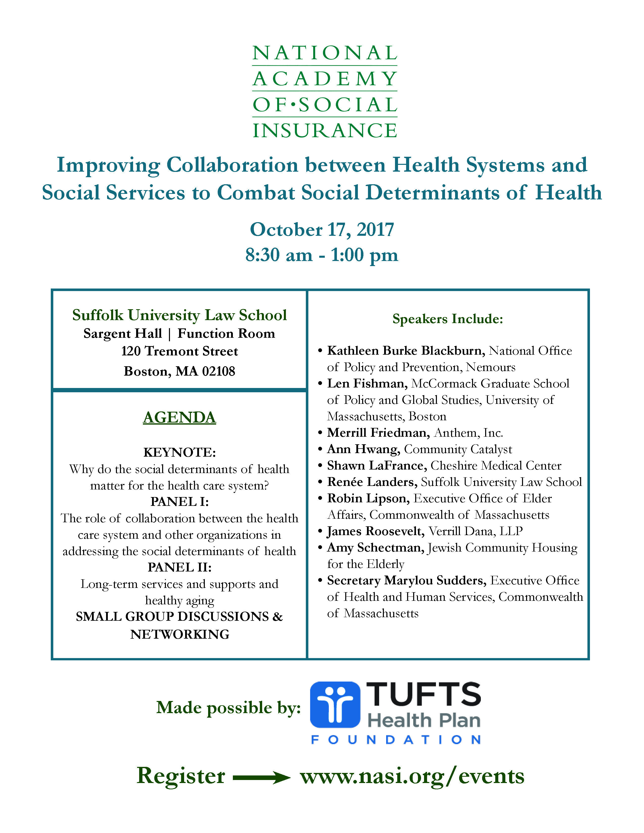 Why Do Socialdeterminants Of Health Matter For Healthcare Join Us At Suffolk Law School On 10 1 Social Services Social Determinants Of Health Health System
