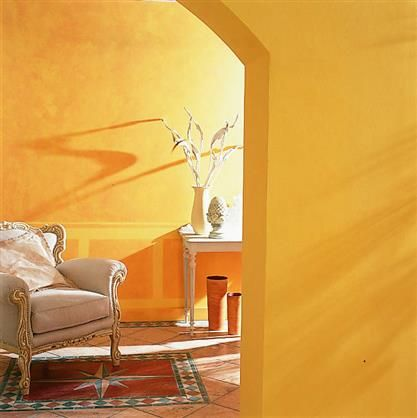peinture ocre jaune tollens colors pinterest inspiration entr es et orange. Black Bedroom Furniture Sets. Home Design Ideas
