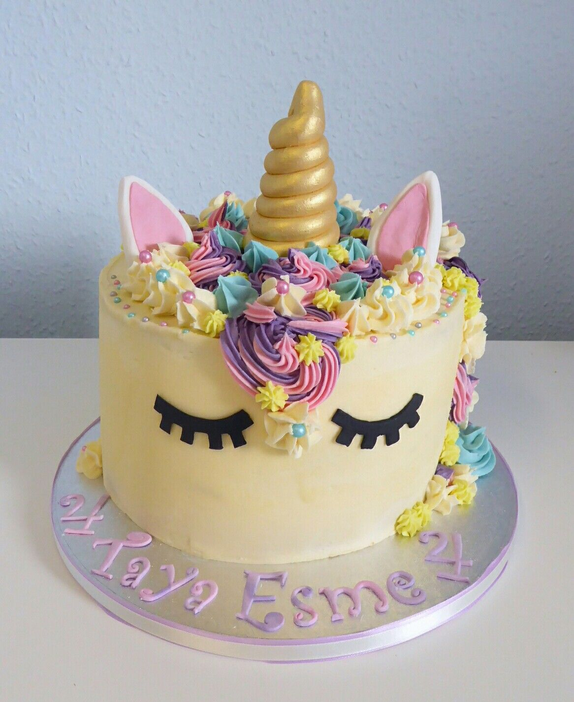 Excellent Unicorn Themed 4Th Birthday Cake With Images Birthday Cakes Funny Birthday Cards Online Sheoxdamsfinfo