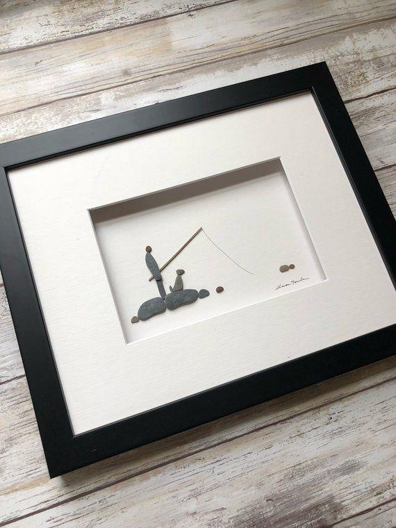 Fisherman with dog Pebble Art, Wall Art, Sharon Nowlan, Simple decor ...