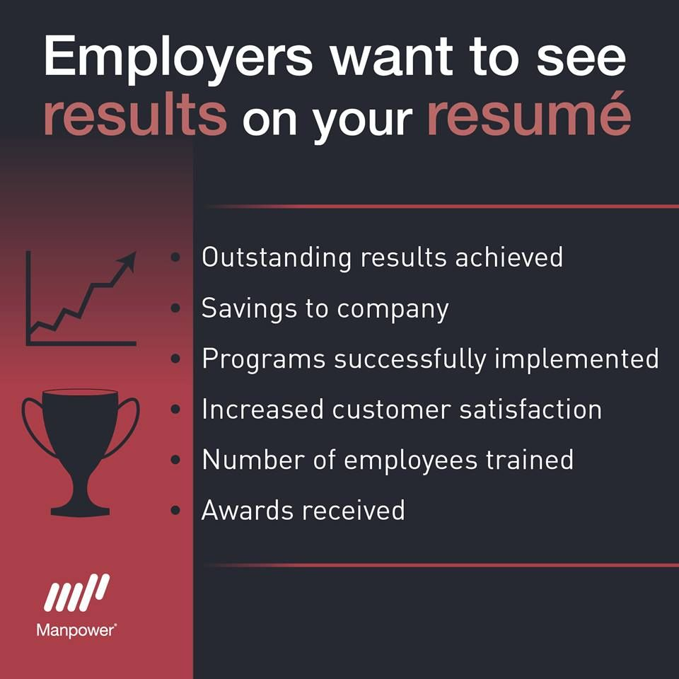 what do employers want to see on your resume results careers