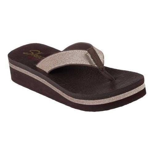 Women's Skechers Vinyasa Unicorn Mist Thong Sandal Chocolate