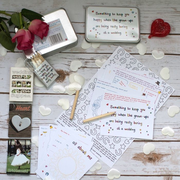 Wedding Activity Set For Children Bridal Gift Box A Great Gift For