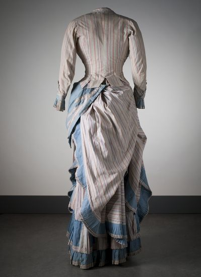 Day dress ca. 1880's From the Nordiska Museet back view