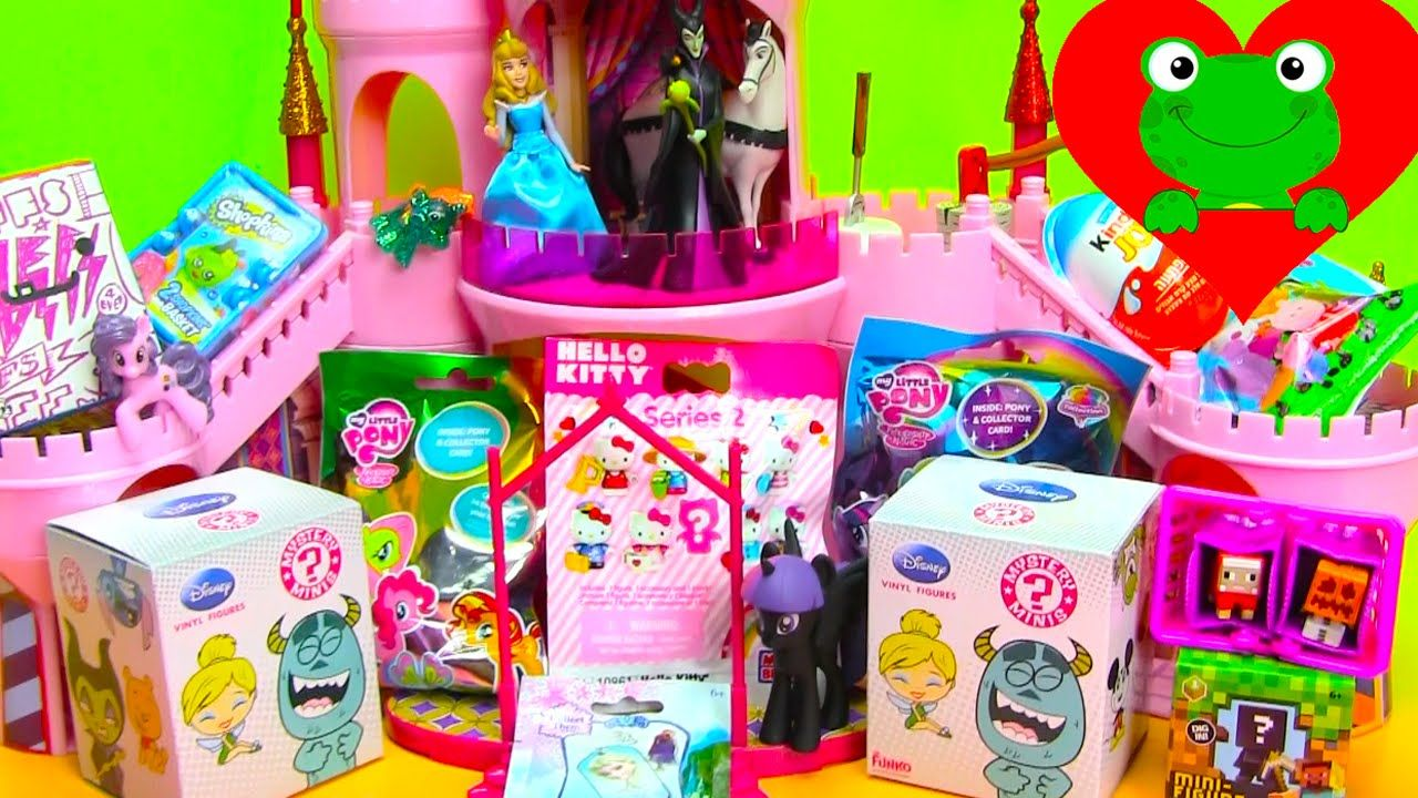 Surprise Unboxing Kinder Bff Mlp Minecraft Peppa And