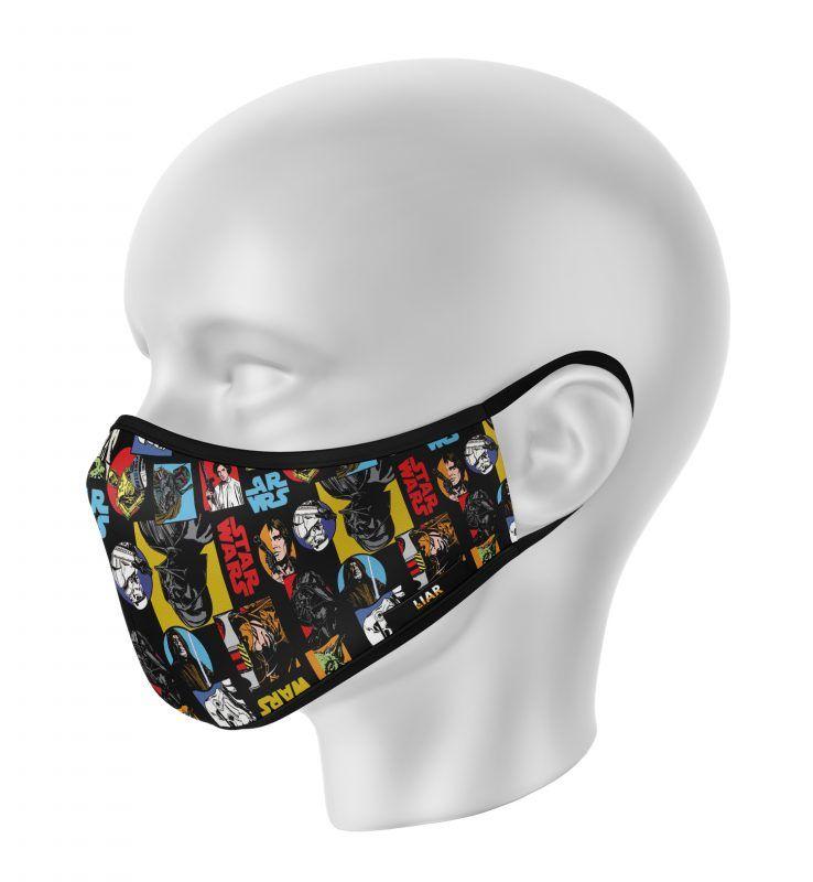 Tapabocas Mascarillas Multiusos Star Wars Liar Com Ve Tienda Online Star Wars Mascara De Ganchillo Mascara De Star Wars