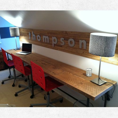 modern office desks | custom reclaimed wood furniture | urban wood