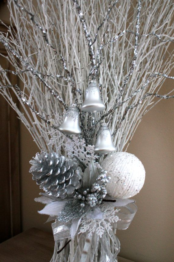 35 Christmas Arrangement White Birch Branches By Floralsfromhome Christmas Arrangements Winter Wedding Decorations Birch Branches