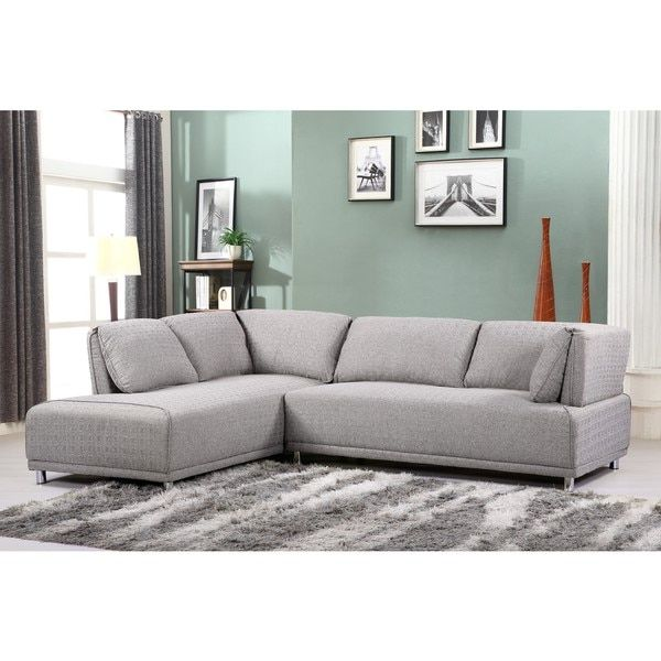 Modern Elvis Left Side Chaise Sectional Sofa with Metal Legs  sc 1 st  Pinterest : left side sectional couch - Sectionals, Sofas & Couches
