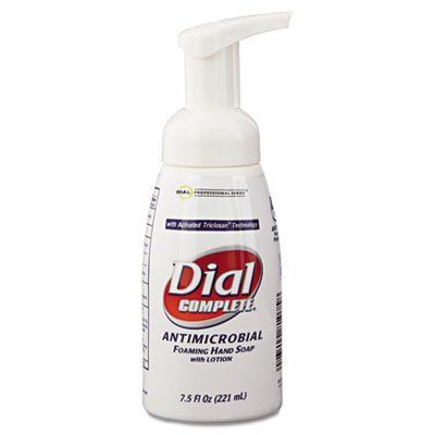 Dial Antimicrobial Healthcare Foaming Hand Soap 7 5 Oz Tabletop