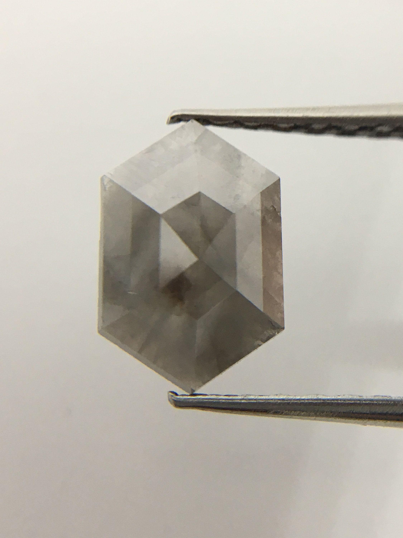 1.66 ct Natural Loose Antique Kite Shape Grey Color Diamond R69
