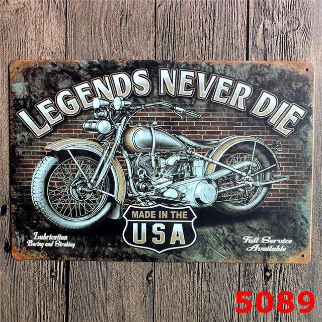 Harley Davidson Sportster Retro Vintage Metal Advertising Wall Sign 2