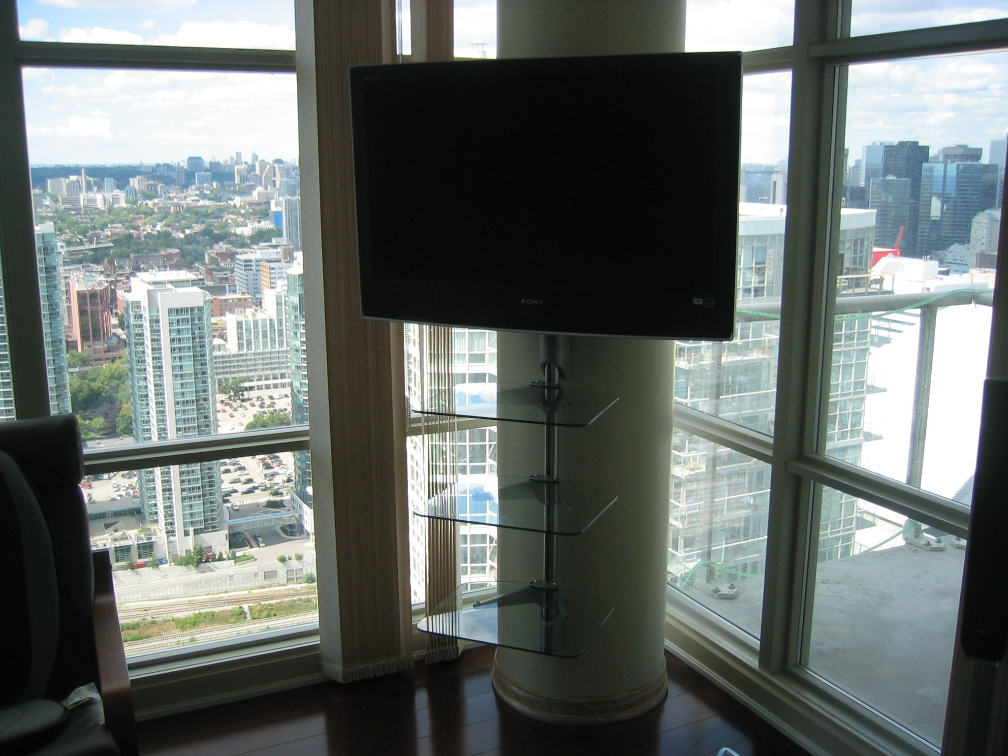 Television Mounted On Metal Pole Google Search 42nd