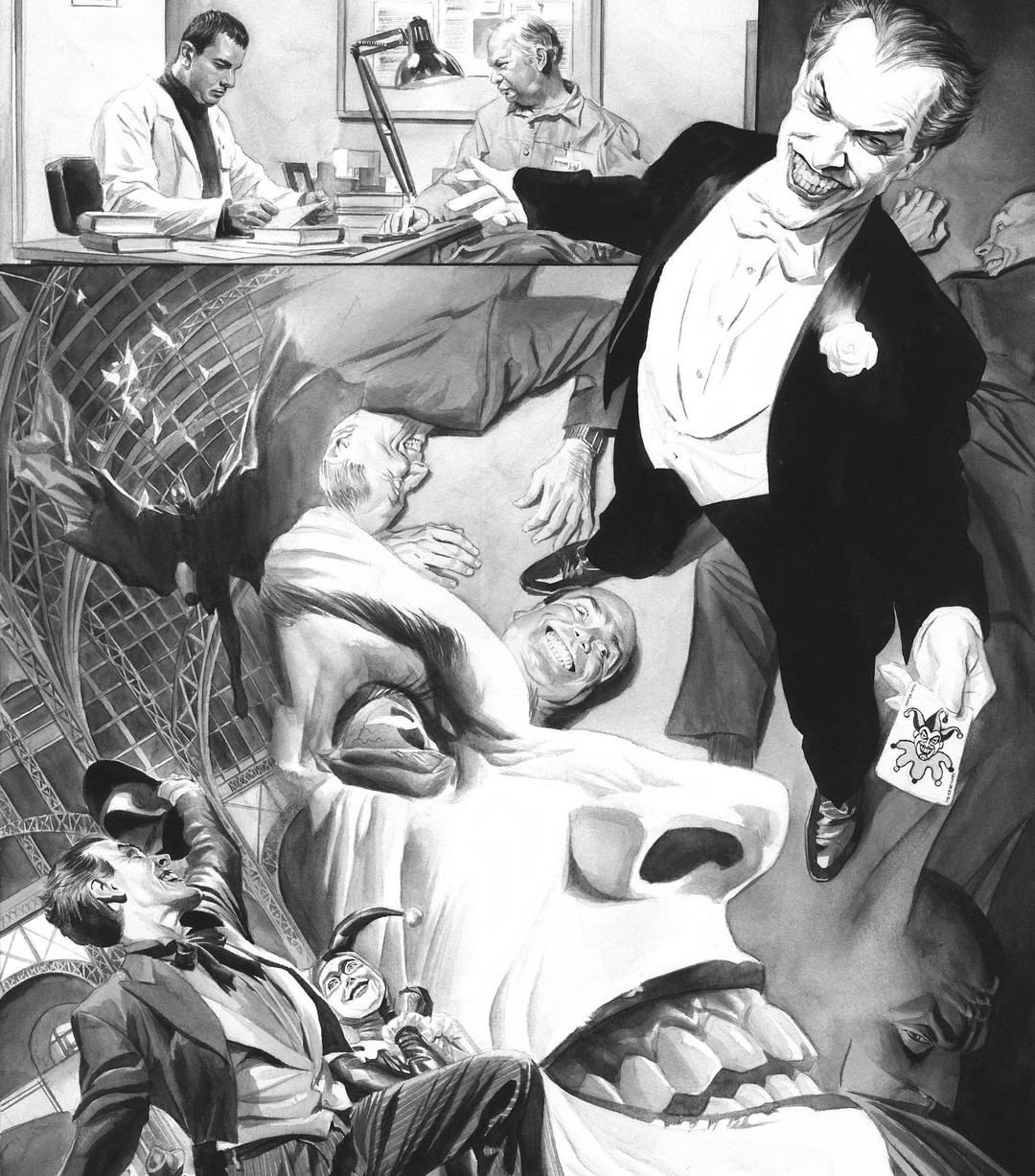 All I Have Are Negative Thoughts Joker Alex Ross Super Heroi