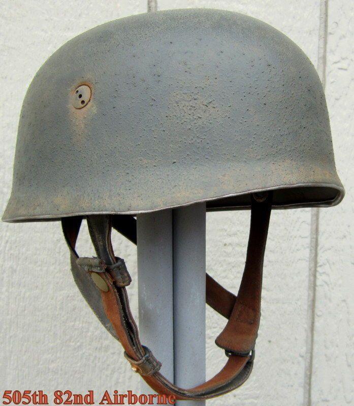 Wwii German M38 Fallschirmjager Paratrooper Helmet Et71 58 Liner Camo Cover Band Helmet Wwii Helmets Cover Band